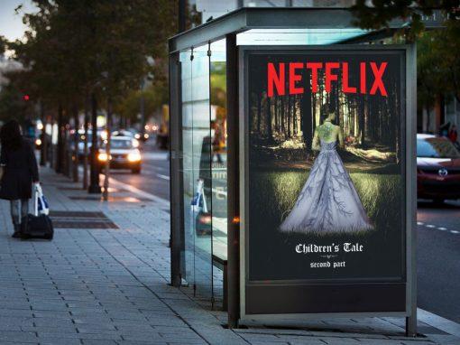 Affiche pour une série Netflix