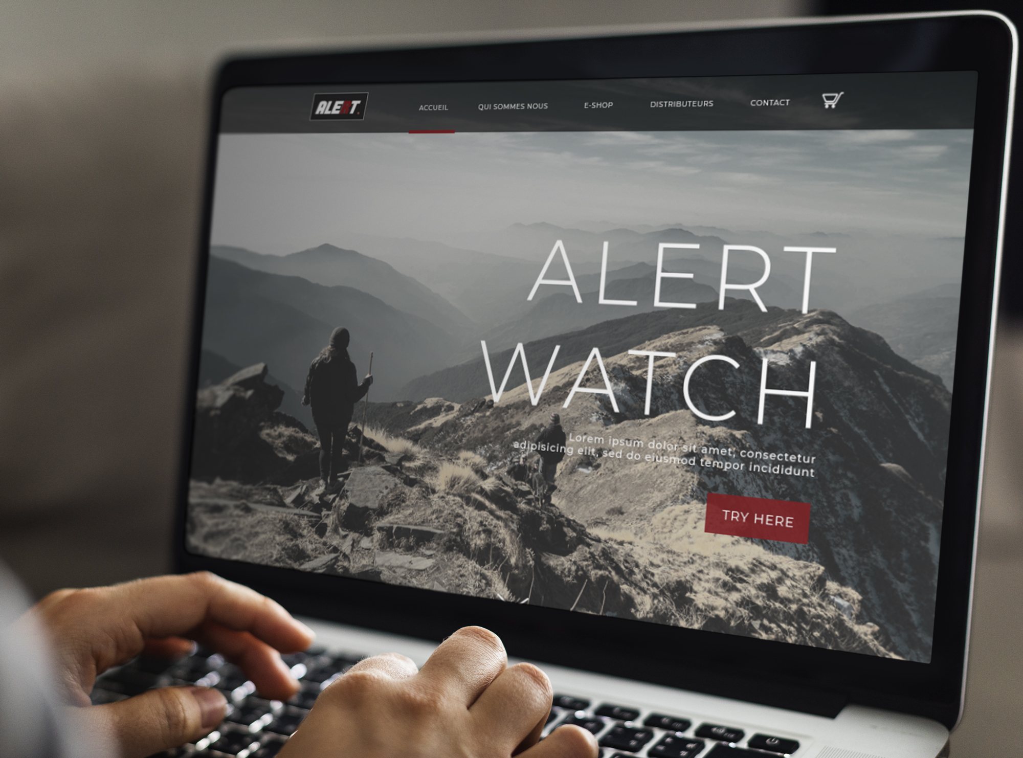 Alert Watch - Maquette de site